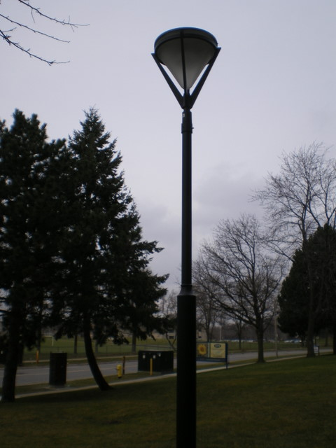 Induction Driveway Pole Lamp
